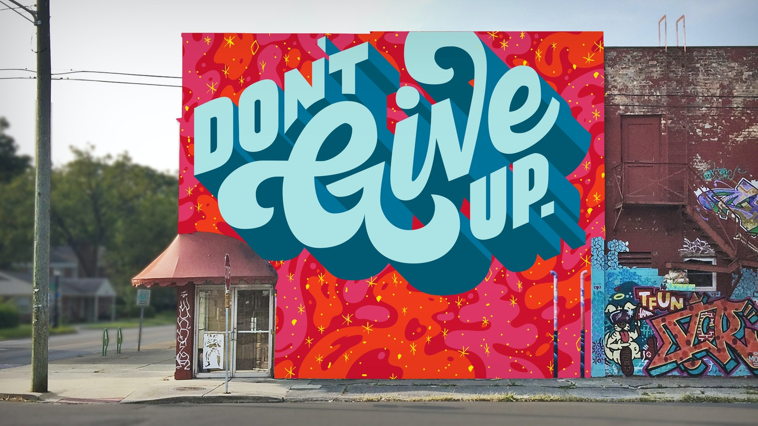 An inspirational mural for fort wayne indiana by matthew for Mural inspiration