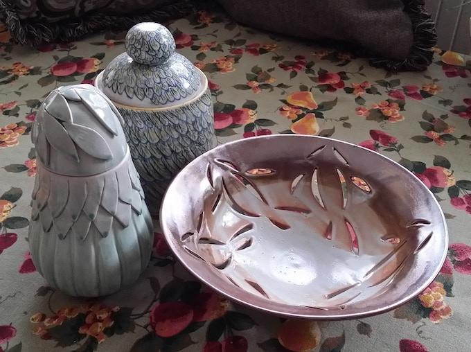 I love to throw, handbuild, and carve my ceramics.