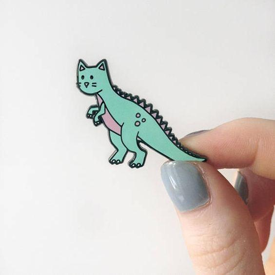 Catasaurus enamel pin