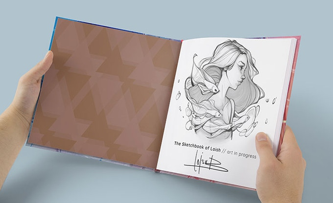 The Sketchbook Of Loish Art In Progress By Loish And 3dtotal Publishing Kickstarter