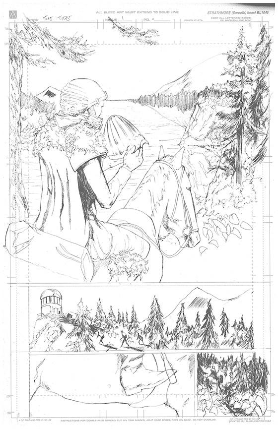 Page 2 Original Art - £150 Pledge level