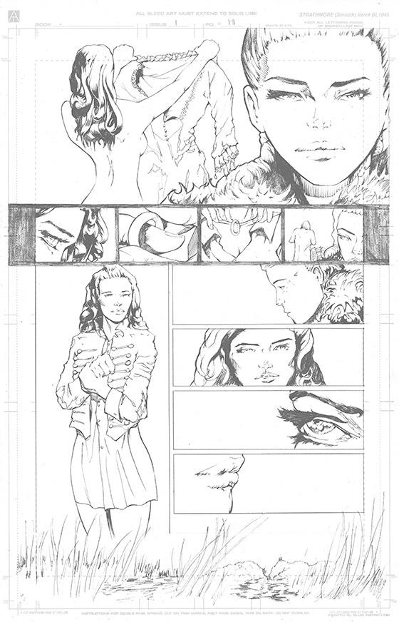 Page 18 Original Art - £150 Pledge level