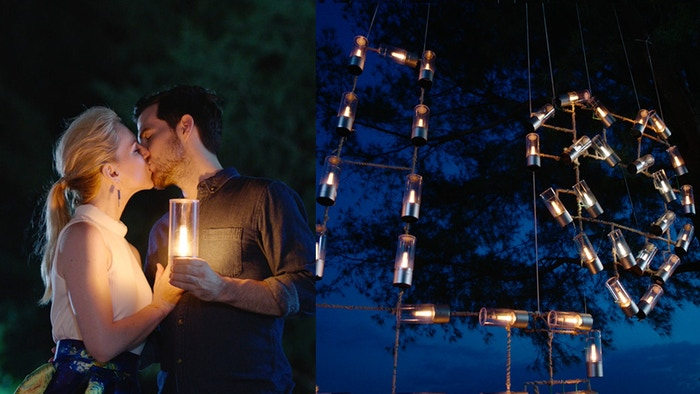 A group of smart portable candlelights that is perfect for mood setting and special events