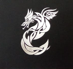 Close Up of Celtic Dragon Art