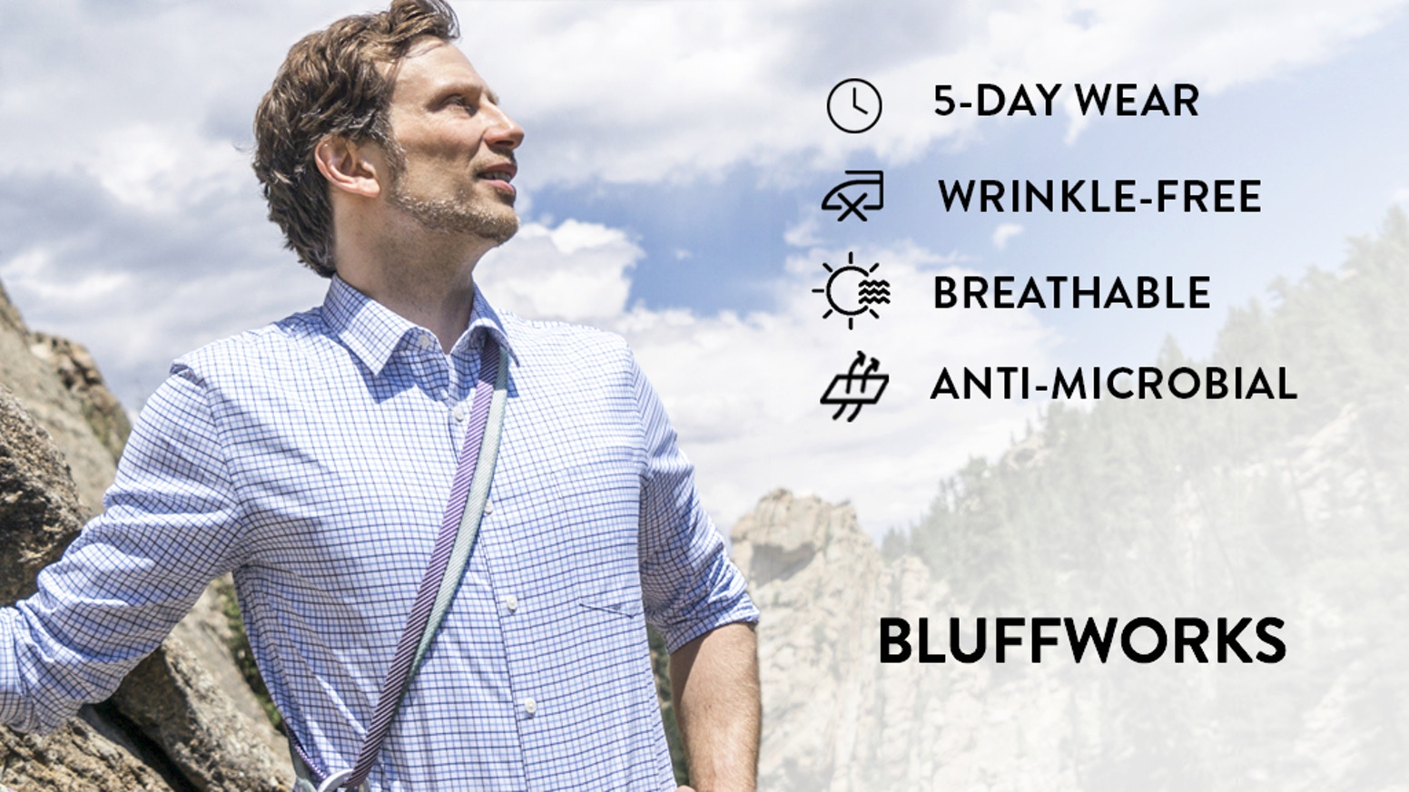 Finally, a hard working wrinkle-free shirt that doesn't feel synthetic and will stay fresh for five days.