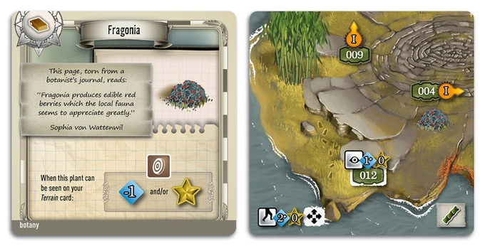 A page from your journal that now allows you to use this plant when you see it on your Terrain card.