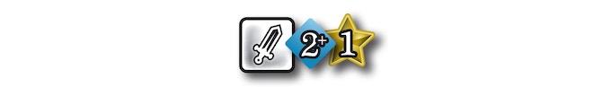 Action combattre: Piochez 2 cartes ou plus dans le Deck d'Action pour réaliser cette action. Obtenez 1 succès ou plus pour réussir cette action.