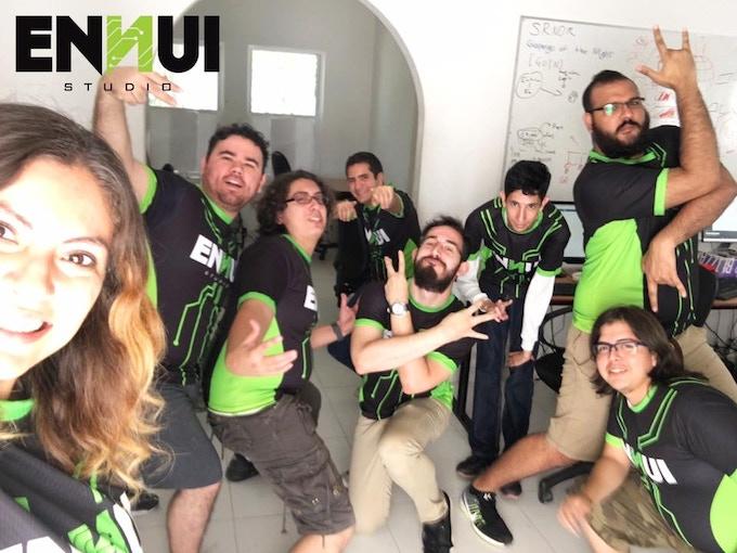 (L-R) Pau, Nacho, Joseph, Arturo (Pablo), Roque, David, Lemuz, Bryan Badface