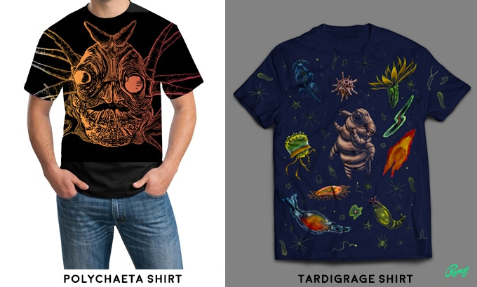 Both shirts were created specifically for this Kickstarter.