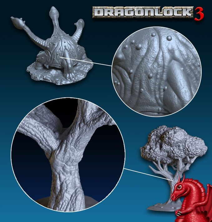 Our models feature high resolution sculpting detail.
