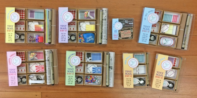 Our new tiny mail kits!