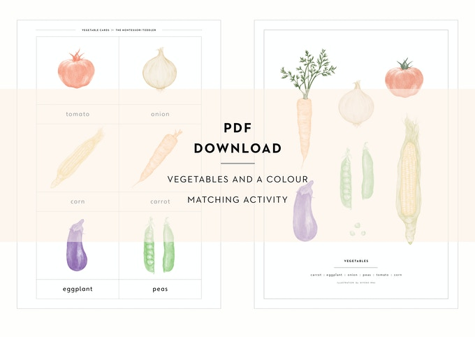 Every backer will receive this beautiful PDF download of hand-drawn vegetables by Hiyoko to make your own language set