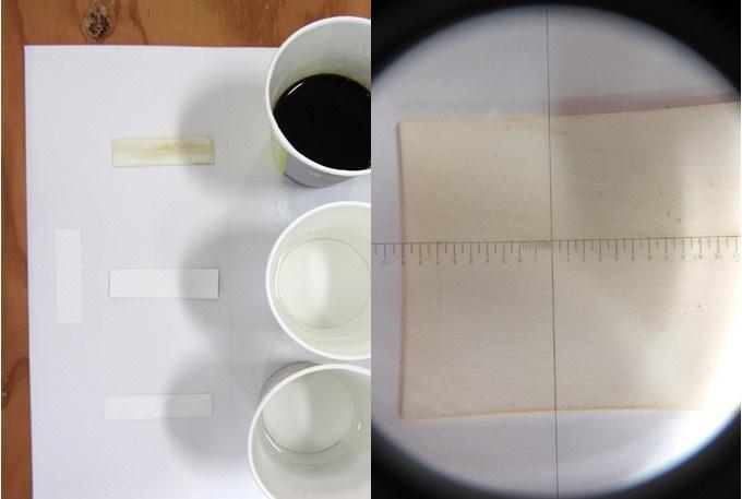 耐汚性試験(※朝食ではありません) Dirt immunity test (*Not our breakfast)