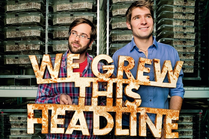 Ecovative Co-Founders Eben Bayer & Gavin McIntyre (Wired Magazine, February 2012 by Chris Raymond)