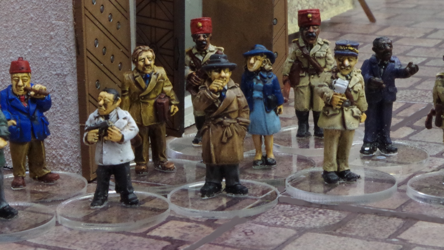 A range of 28mm miniatures inspired by iconic, classic, pulp movies such as Casablanca, The African Queen, 39 Steps, The Maltese Falcon
