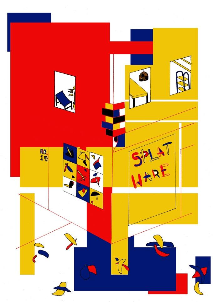Limited edition splatware print by Sumuyya Khader