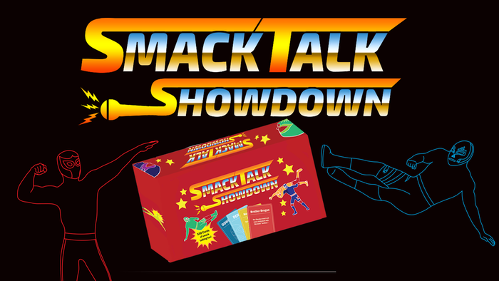 Smack Talk Showdown is a party game where you become a wrestler and trash talk your opponent.  It's Wrestling.  With Words.