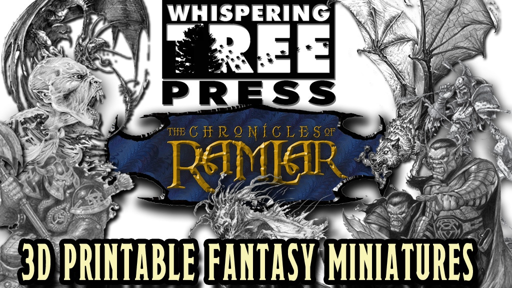 Project image for Whispering Tree Press 3D Printable Fantasy Miniatures