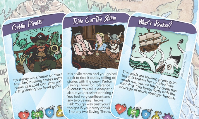 The heroes sail toward their destination, or farther from it, they're just really bad at this.