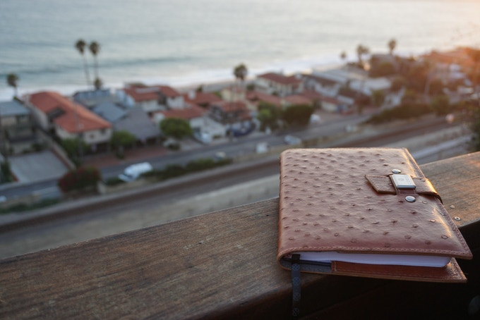Our ostrich leather covers are sustainably handcrafted in Chile