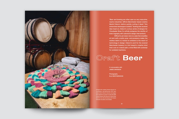 Mariel Osborn speaks to us about her designs for Cloudwater Brew Co
