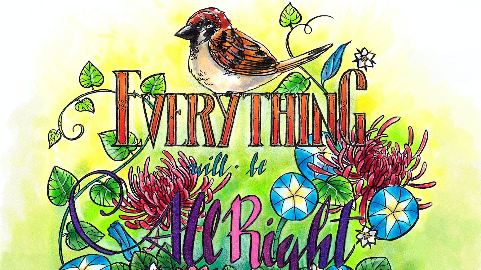 everything will be all right a fantasy coloring book - Fantasy Coloring Book