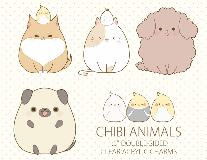 Chibi Animals Acrylic Charms By Miivei Art Kickstarter