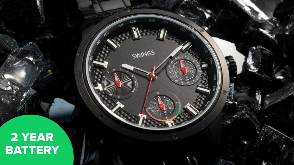 SWINGS – the world's longest lasting hybrid smartwatch project video thumbnail