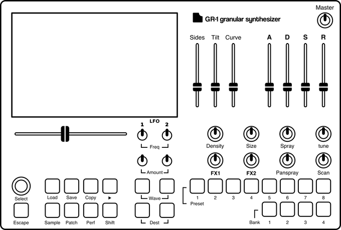 GR-1 Granular Synthesizer by Tasty Chips Electronics