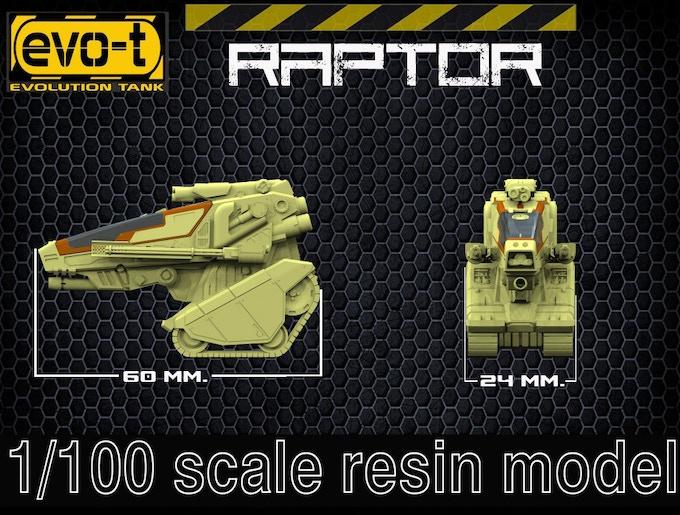 Raptor - size