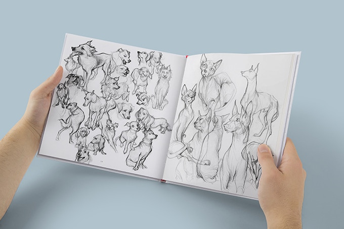 The Sketchbook Of Loish Art In Progress By Loish And 3dtotal Publishing Kickstarter Backer Club