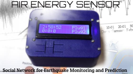Air-Energy Sensor for Earthquake Forecasting