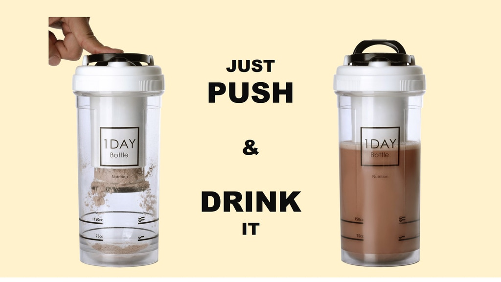 1DAY Bottle: Push & Drink Your Supplement. project video thumbnail