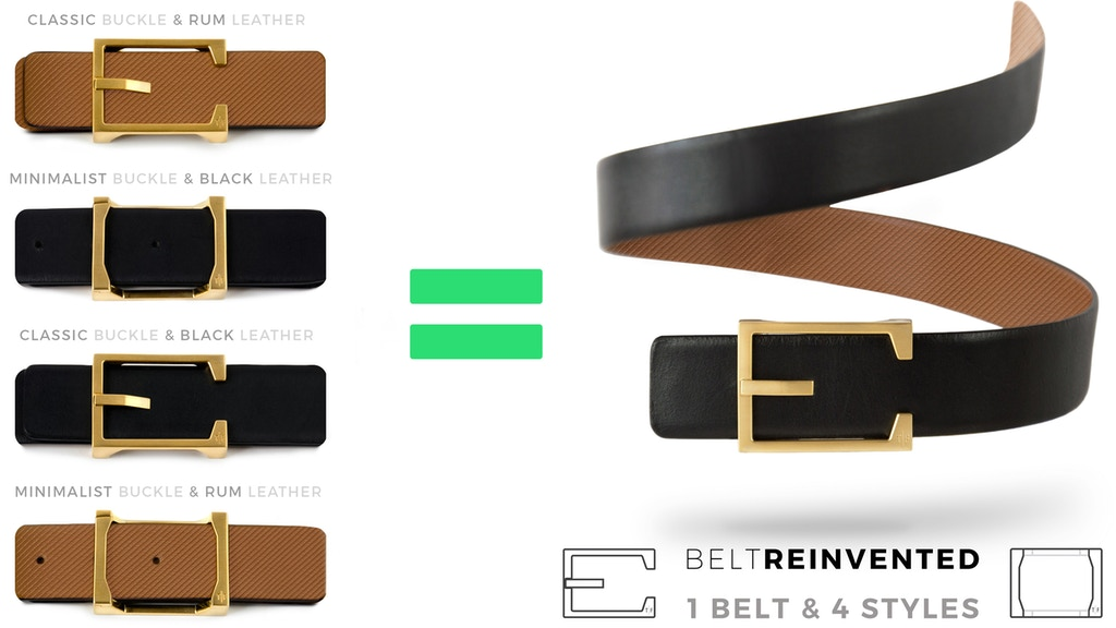 The Belt REINVENTED - 1 Leather Belt, 4 Different Styles project video thumbnail