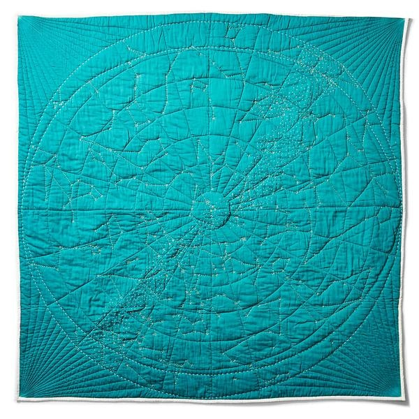 Touch the stars and celebrate your place in the universe with a handmade quilt of the constellations by Haptic Lab.