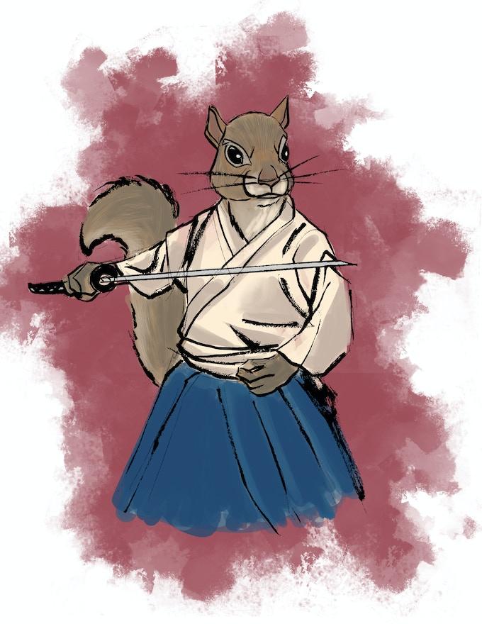 """character sketch of samurai Ōishi Kuranosuke Yoshio """"Yoshio"""""""