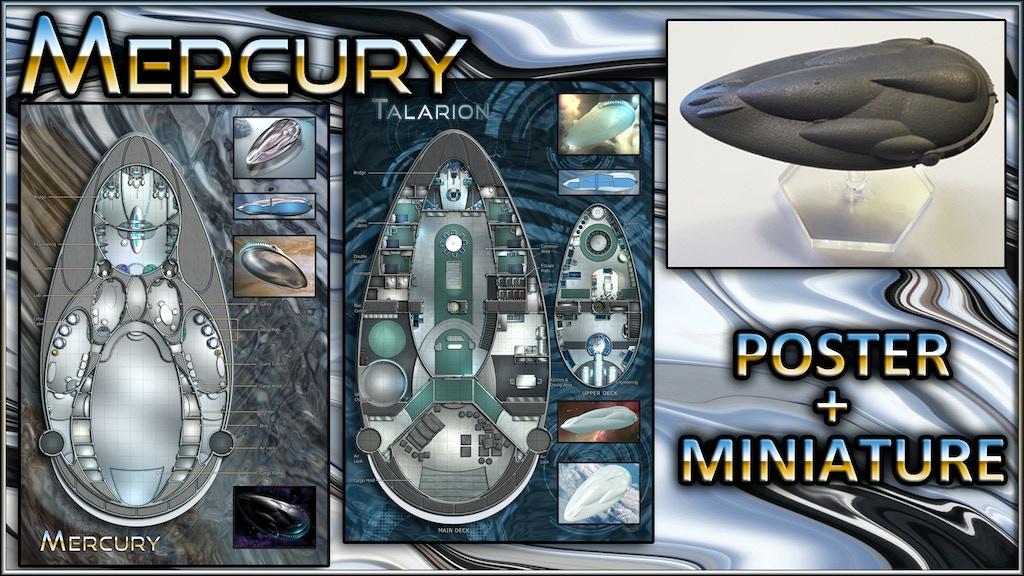 Mercury: Starship Map Poster & Miniature project video thumbnail