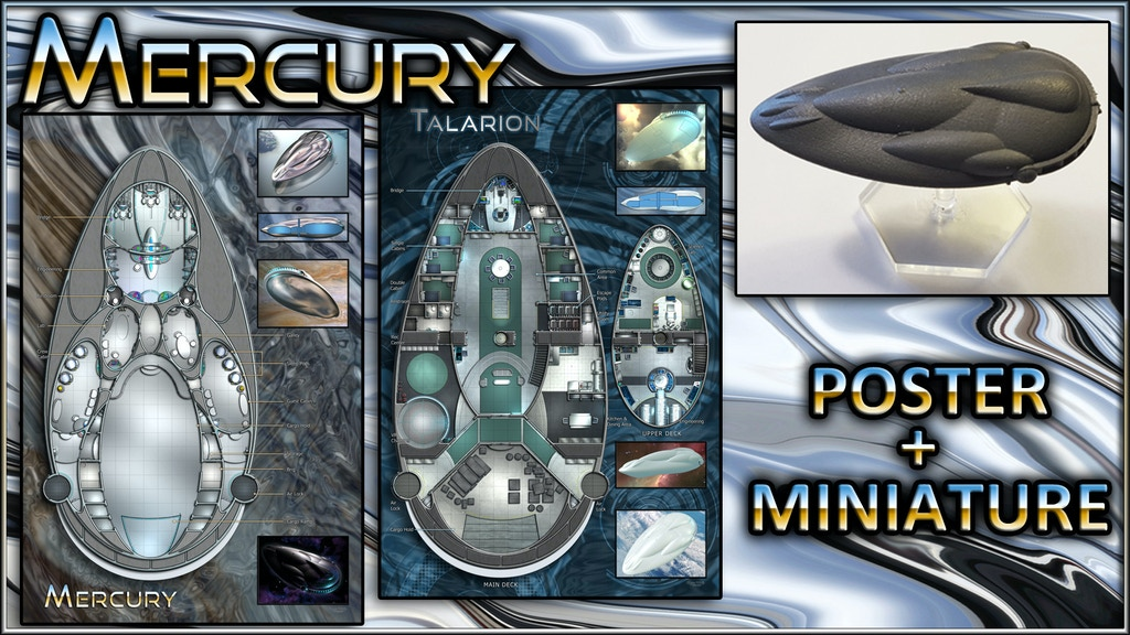 Mercury: Starship Map Poster & Miniature project video thumbnail