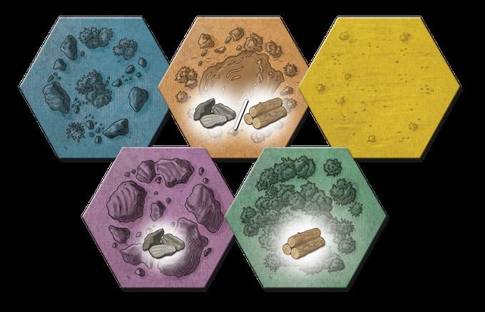 Eighty terrain tiles
