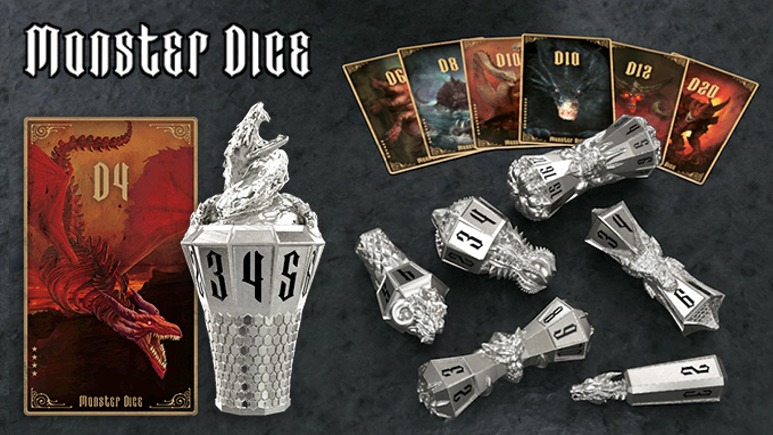 Elaborately crafted metal dice(D4, D6, D8, D10X2, D12, D20) will give a pleasant joy in your tabletop games and your daily life.