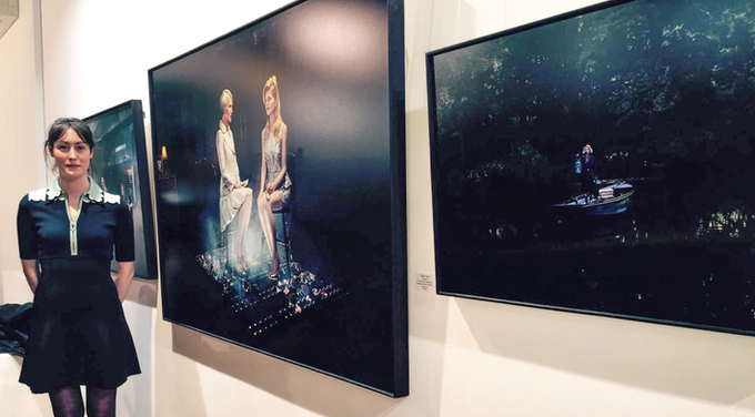Gillian at her Photography Exhibition at the Royal Opera Arcade Gallery in London