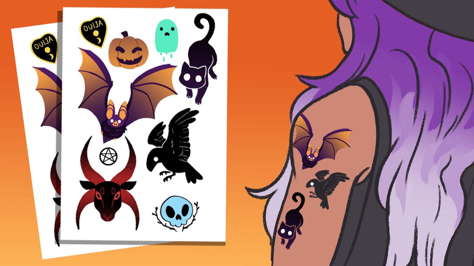 Spooky Temporary Tattoos by Keilidh Bradley — Kickstarter