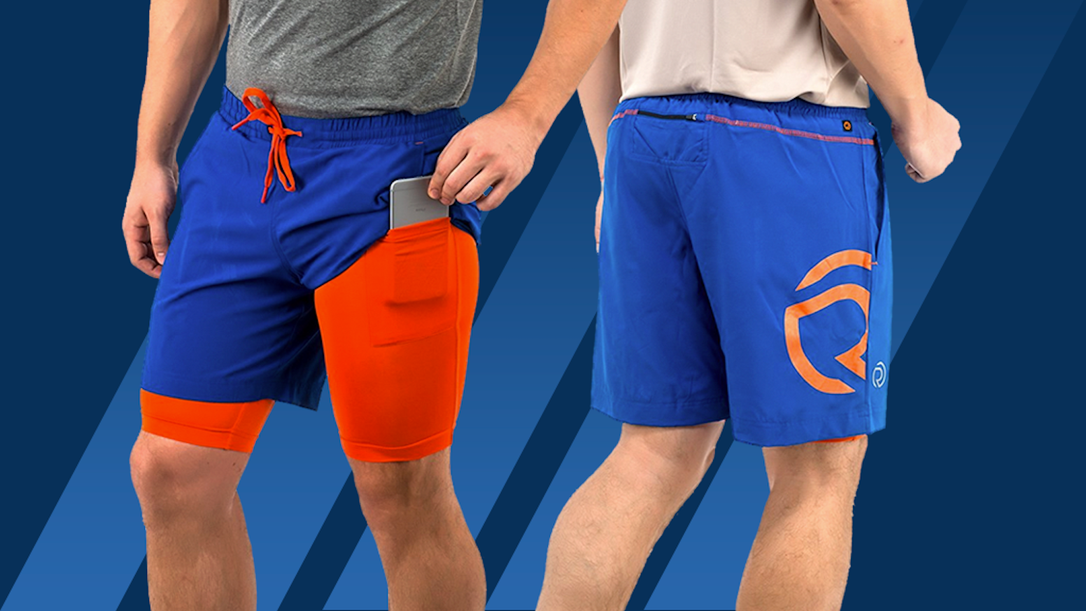 Innovative Shorts, Tights & Track Pants with Smartphone Pocket System. No more bouncing or falling phones! Buy on www.truerevo.com!
