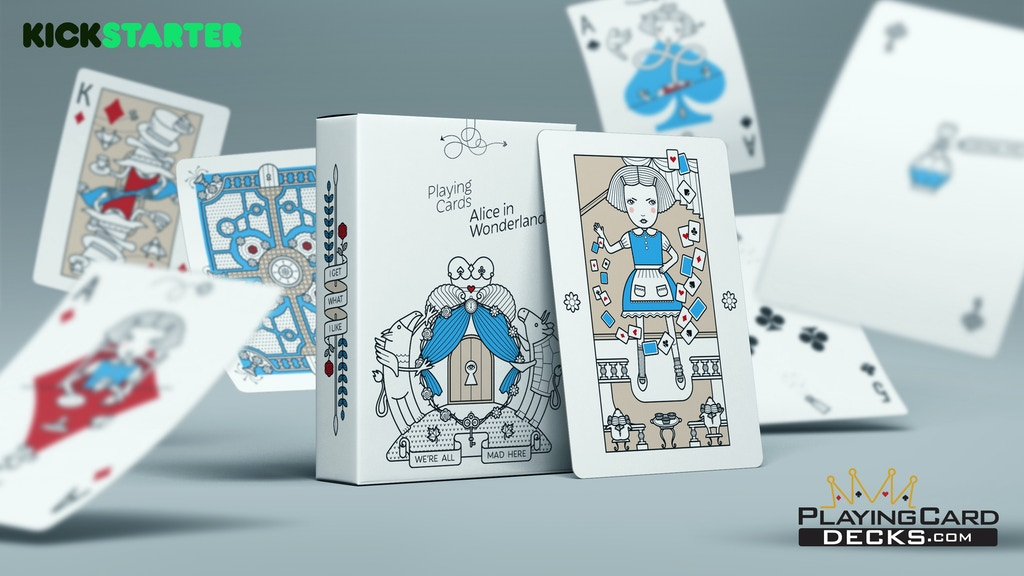 Alice in Wonderland Luxury Playing Cards - Free USA Shipping project video thumbnail