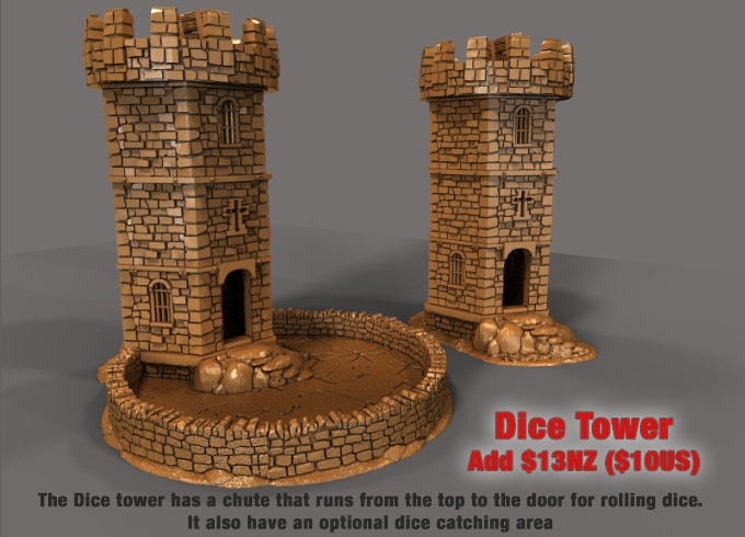 The Dice tower is based on our Winterdale War Tower