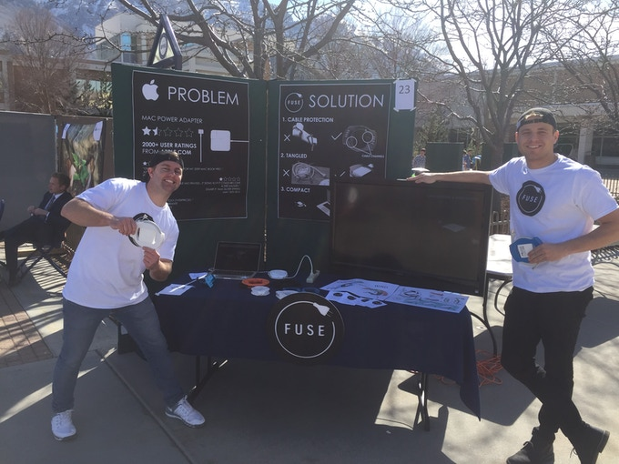 The Fuse booth and BYU's Student Innovator of the Year Competition