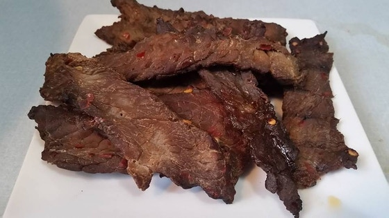 Homemade Smoked Beef Jerky; tender steak with a kick!