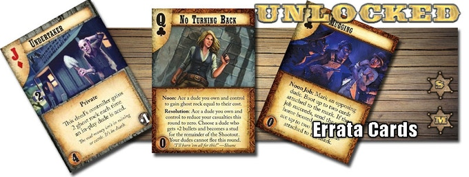 These cards have been errata'ed since their release, this stretch goal contains updated sets of these cards.