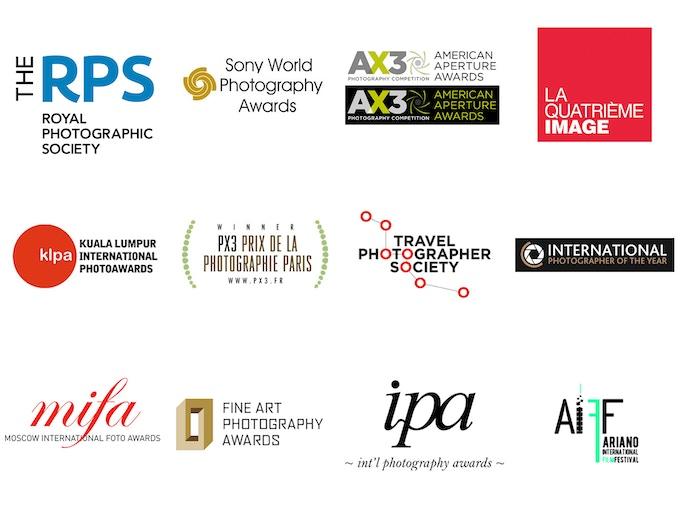A selection of Gillian's international photography awards