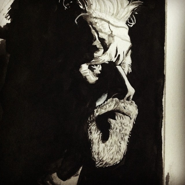 Clay Morrow in B/W by Alexia Veldhuisen (example of her finished work)